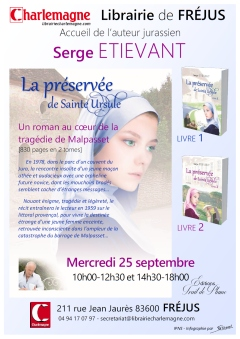 Affiche A4 - Serge ETIEVANT - Librairie Charlemagne FREJUS - POST