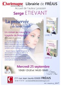 Affiche A4 - Serge ETIEVANT - Librairie Charlemagne FREJUS - POST