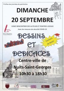 DESSINS ET DEDICACES A4 - Nuits-St-Georges - POST